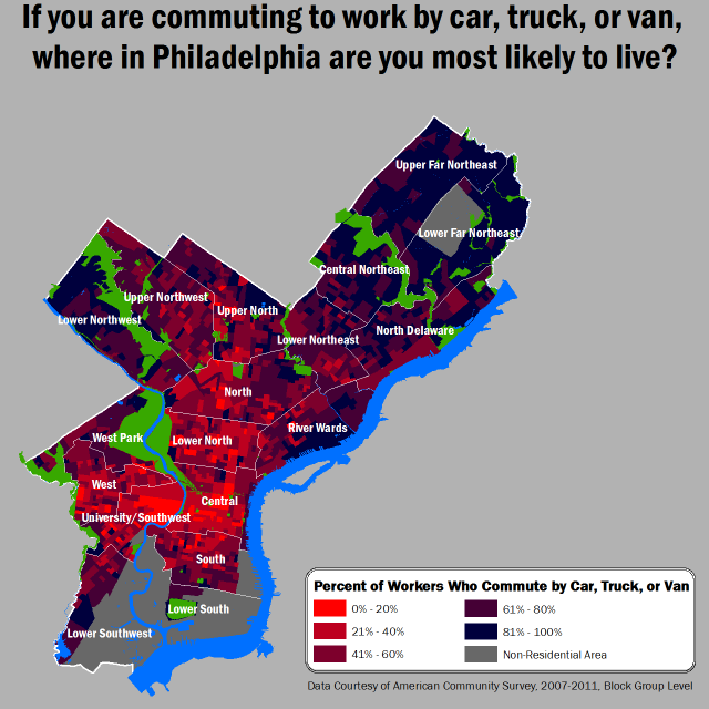 philadelphia commuting patterns