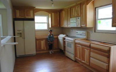photo of child in kitchen