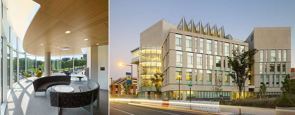Papadakis Integrated Sciences Building, one of Drexel's new architectural jewels.