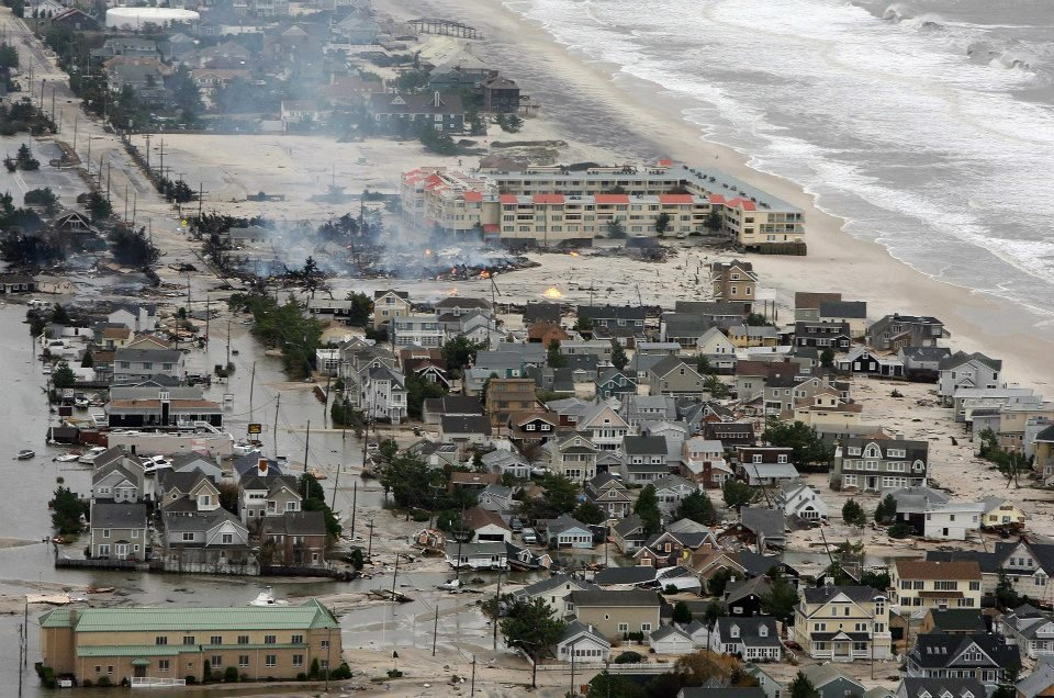 Hurricane Sandy left ruins behind along the New Jersey coast. This hurricane season is expected to produce fewer storms.