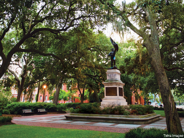 Madison Square in Savannah, Georgia.