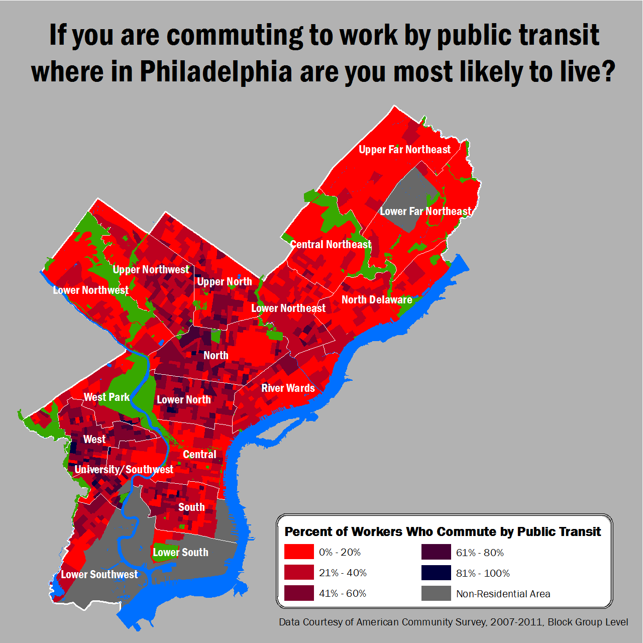 Map: 90 Percent of Philadelphians Are About As Sluggish As You'd