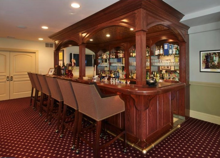 in-home bar one of many finished basement ideas