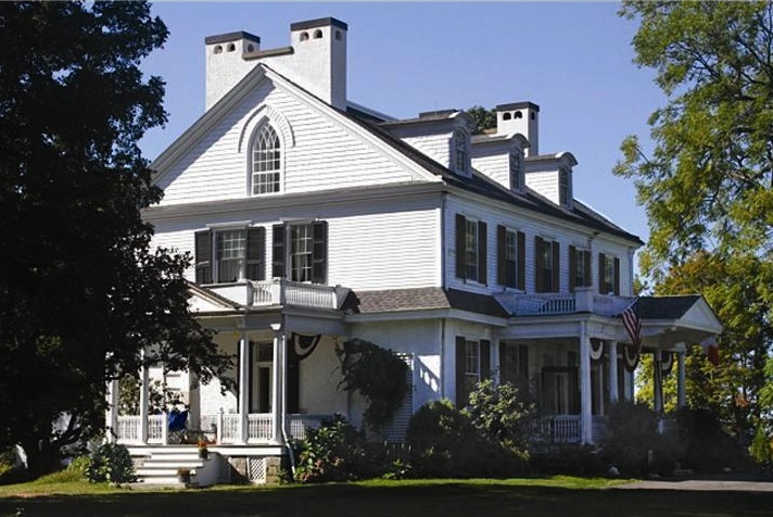 This lovely, historic West Chester estate boasts an authentic 19th-century clocktower.