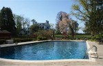 historic west chester estate: pool view