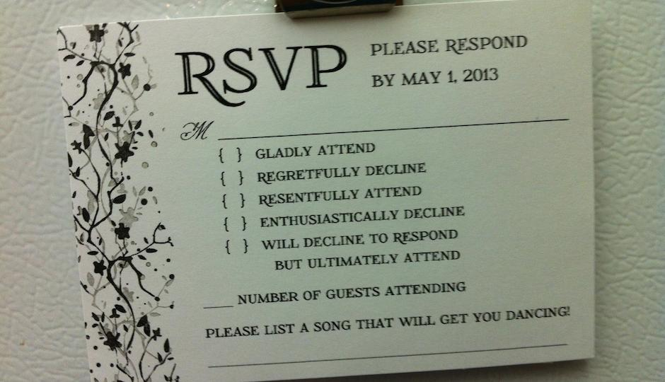Rsvp To Wedding Invitation Wording: PHOTO: This Is The Best Wedding RSVP Card We've Ever Seen