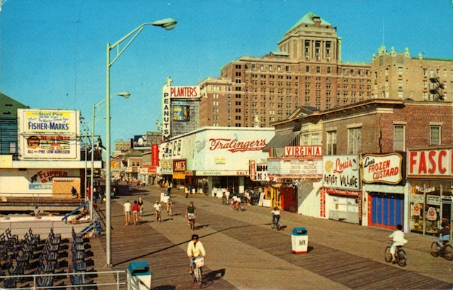 AC boardwalk early morning in the 1960s. Via Neat Stuff Blog