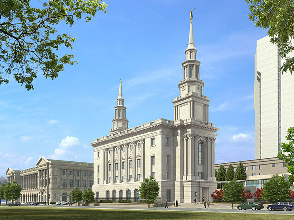 Rendering of the Mormon Temple