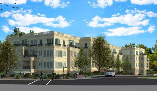Rendering of proposed condo complex where the Main Line YMCA stands via Main Line Times.