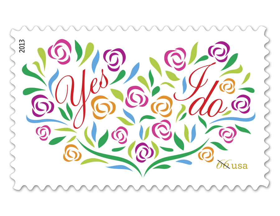USPS Releases New Wedding Stamps For Your Invite-Sending Pleasure