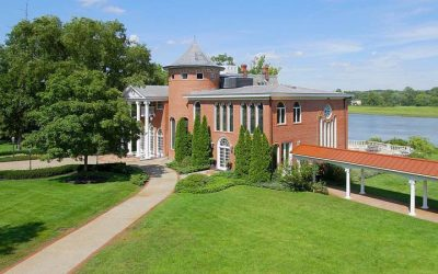 This Norman-style Moorestown estate for sale has great water views and a chapel.