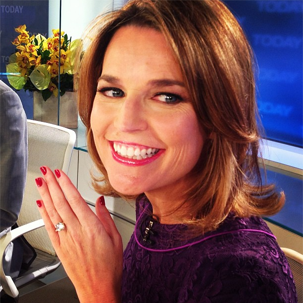 CELEB ROUNDUP: Today Show Co-Host Savannah Guthrie Gets Engaged; Shenae Grimes Gets Married In a Black Vera Wang Wedding Dress
