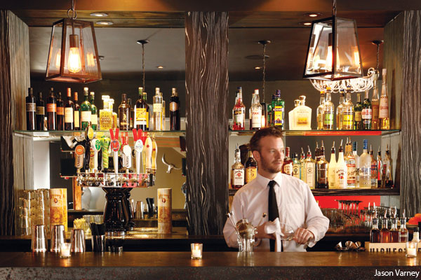 The bar at Tavro 13 in Swedesboro, New Jersey by photographer Jason Varney. Reviewed by Trey Popp at Philadelphia magazine.