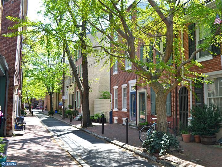 The 100 block of Fitzwater in Queen Village, a quiet block perfect for kids.
