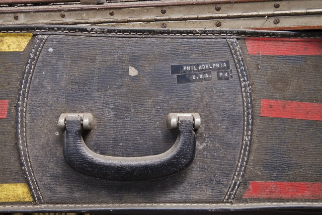 bronze foundry suitcase