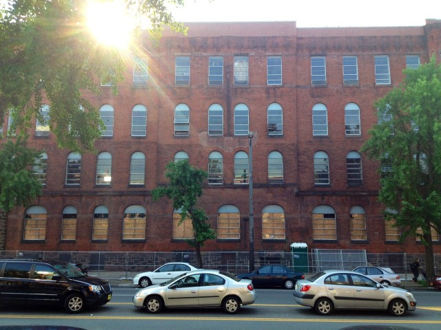 The Broad Street armory as seen a couple days ago.