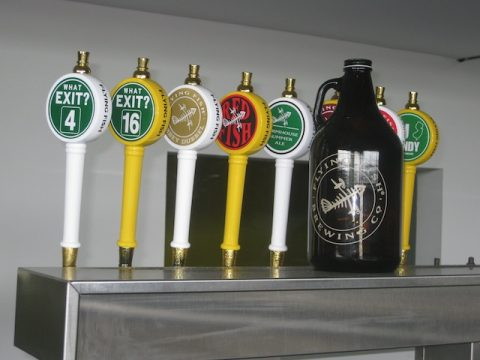 Growler and taps