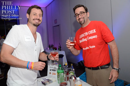Brendan Walsh, co-founder of Mole Street Productions and Sam Brouwer, Catoctin Creek Distillery created a kosher cherry, orange Manhattan