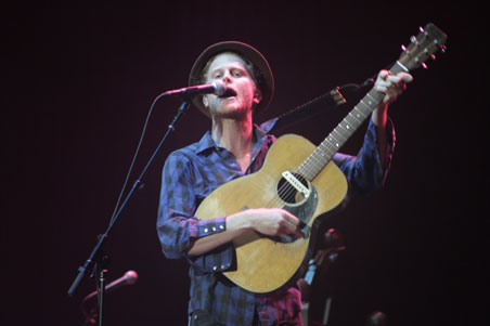 Wesley Schultz of the Lumineers at XPoNential Music Festival 2013