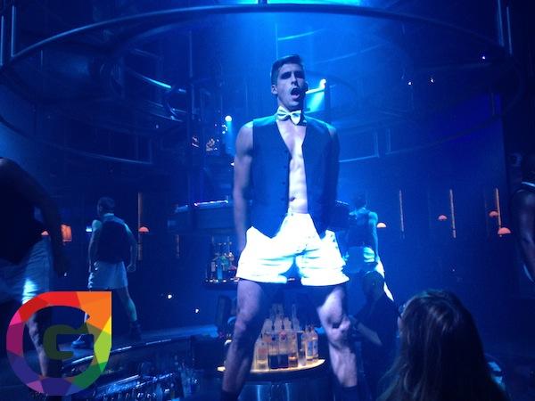 Male strip show video