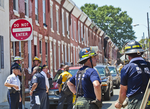 south philly row home explosion