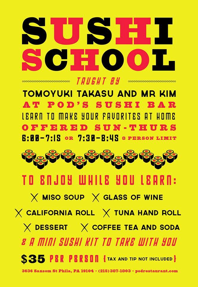 sushi-school-pod