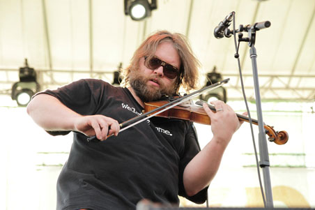 Trampled by Turtles' Ryan Young at XPoNential Music Festival