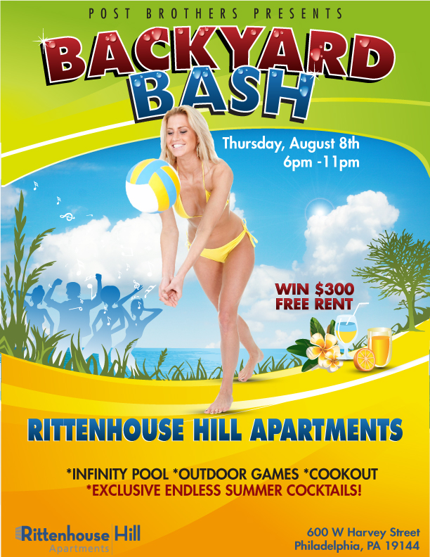 backyard bash poster