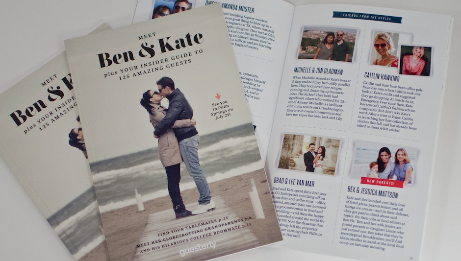 Your Guesterly book comes out like your very own personal wedding-day magazine. Photo courtesy of Guesterly.