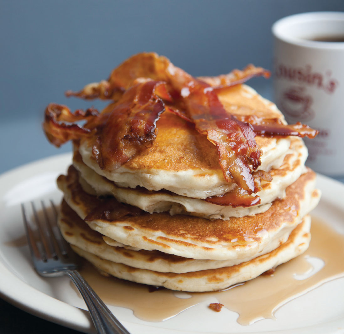 pancake and bacon breakfast - photo #3