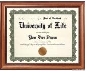 Grad school diploma