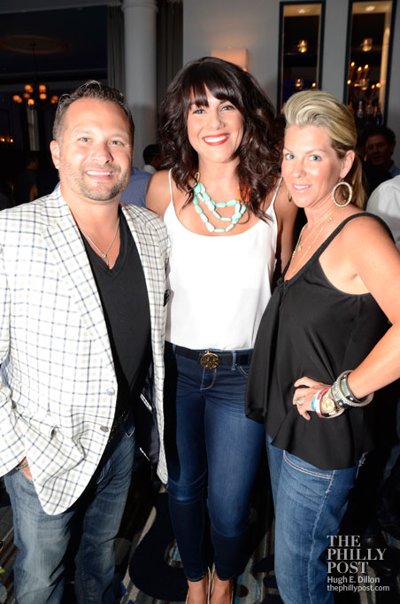 Hamels Foundation's Fourth Annual Diamonds and Denim, Joe and Kellie Gagliotti with Cole Hamels hairstylist, Lauren Hassinger