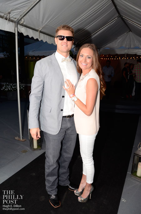 The Hamels Foundation's 4th annual Diamonds and Denim, Jonathan and Ashley Papelbon