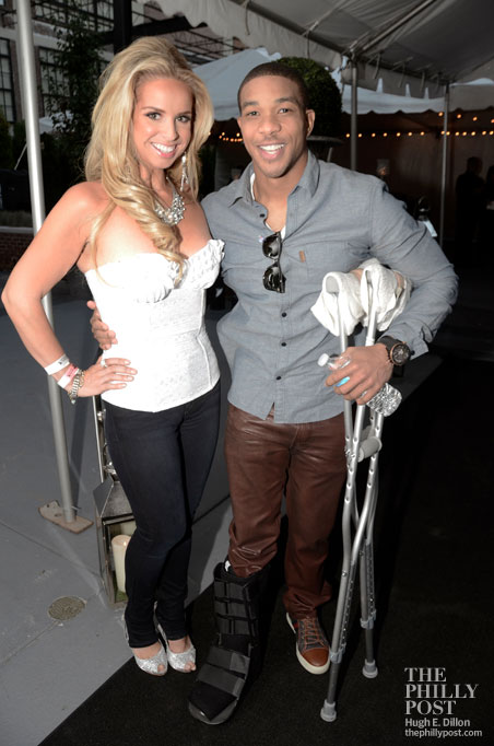 Hamels Foundation's Fourth Annual Diamonds and Denim, Maria Papadakis and Ben Revere