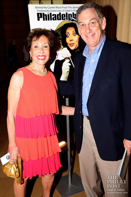 Carol Saline, journalist, broadcaster, author, public speaker and the first Best of Philly cover girl. She is with Sam Katz.