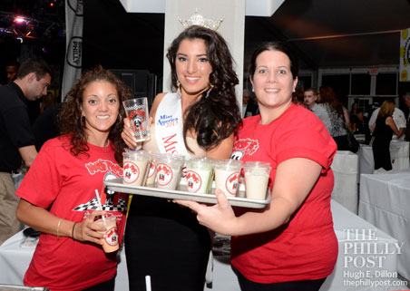 Miss Philadelphia 2013 Francesca Ruscio with Nifty Fiftys' Valerie Pino (L) and Meghan Freda