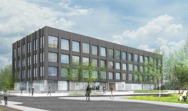 Rendering of Franklin Square Capital Parnters' new building at the Navy Yard
