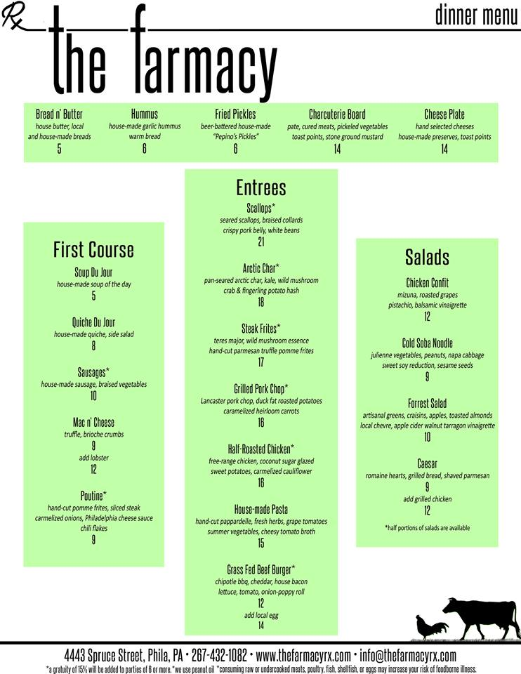 rx-farmacy-dinner-menu