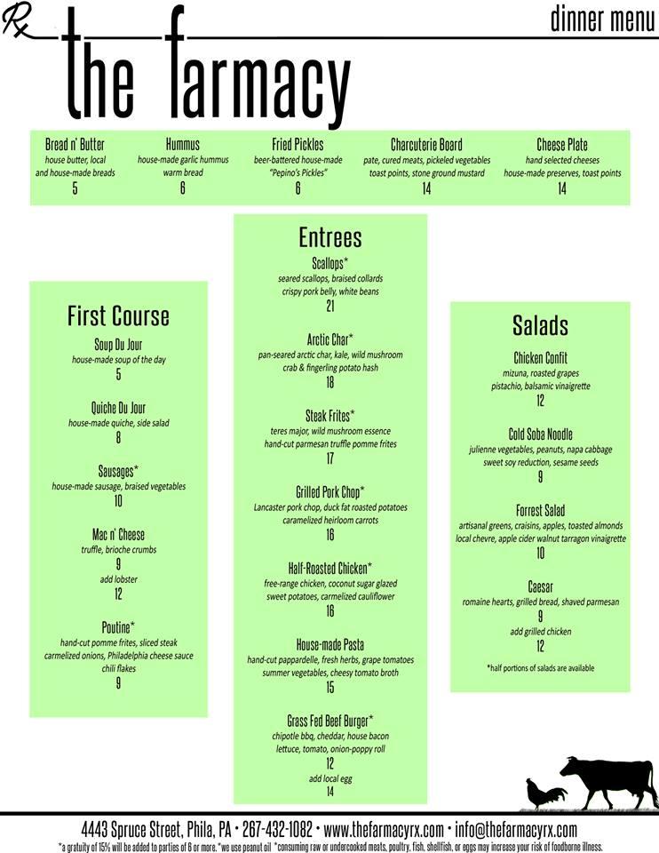 rx-farmacy-dinner-menu