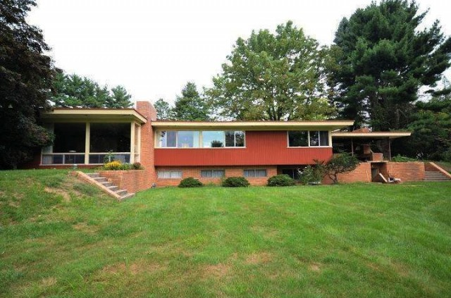 Thoroughly mid century modern home with bomb shelter panic for Modern homes philadelphia