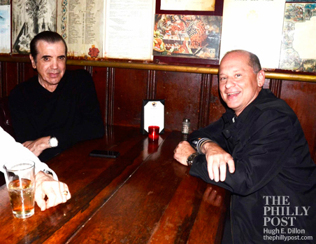 Chazz Palmenteri and Barry Gutin at Cuba Libre in Philadelphia