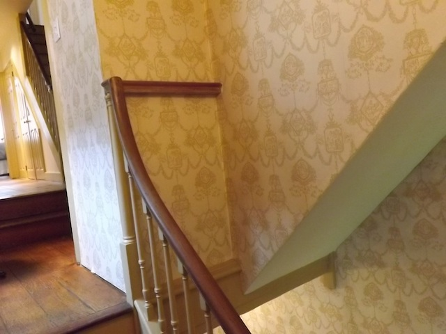 This photo shows the secret staircase to the fourth-floor hiding room. Photo by Sandy Smith.