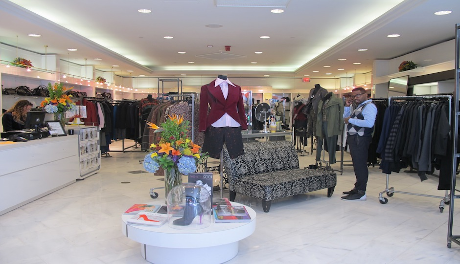 The boutique's new location at Liberty Place.