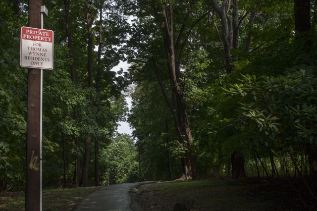 Private Property Signs on this trail in Wynnewood could be short lived.