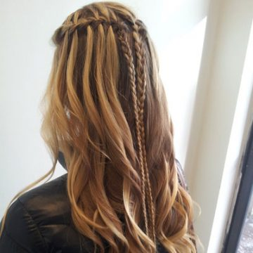 The Water fall braid from AMS Salon's Braid Bar.