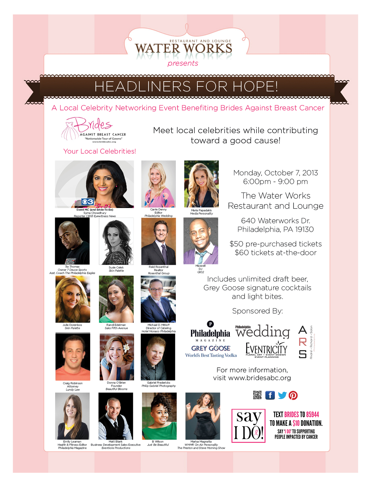 Come Out With Philadelphia Wedding and Brides Against Breast Cancer!