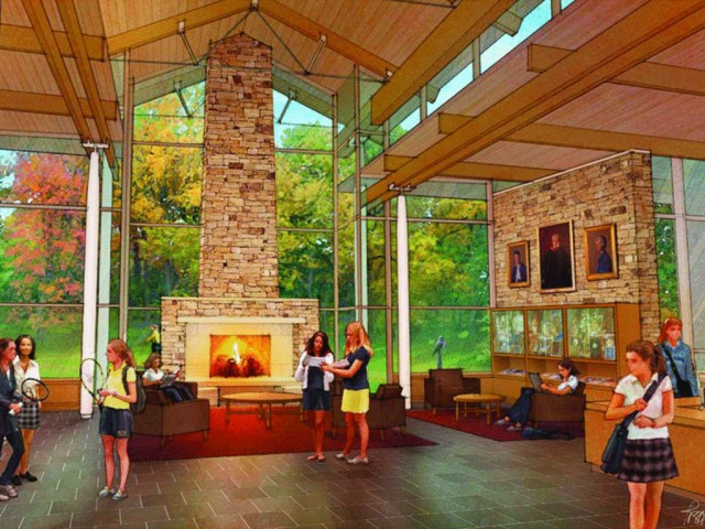 A rendering of the new campus, which is now completed. Via AgnesIrwin.org.