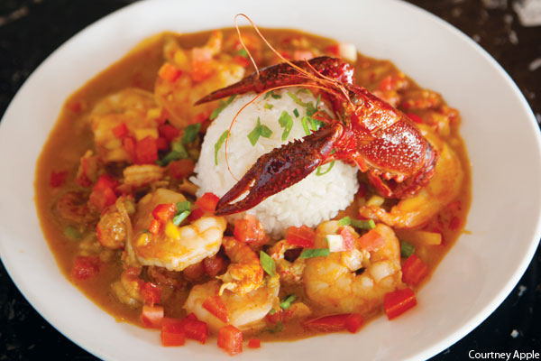 Shrimp and crawfish etouffee at Carmine's Creole Cafe Act II