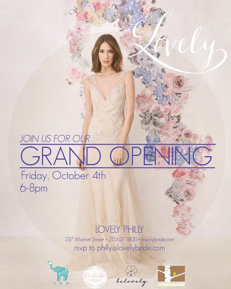 New Philadelphia Bridal Salon Lovely Bride Is Having a Grand Opening Party!