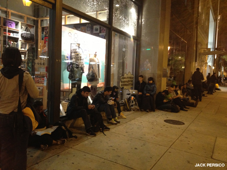 Line at the Apple store in Philadelphia ahead of the iPhone launch